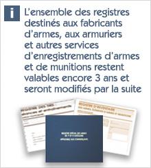 Information registres armes
