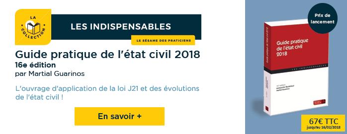 guide pratique etat civil 2018