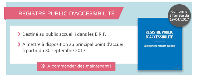 Registre public accessibilité