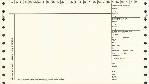 fiches d ex 233 cution des peines en continu pi 232 ces d ex 233 cution tribunal de tribunal