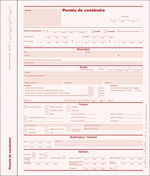 Dossier de permis de construire grand format dossiers d for Dossier permis de construire