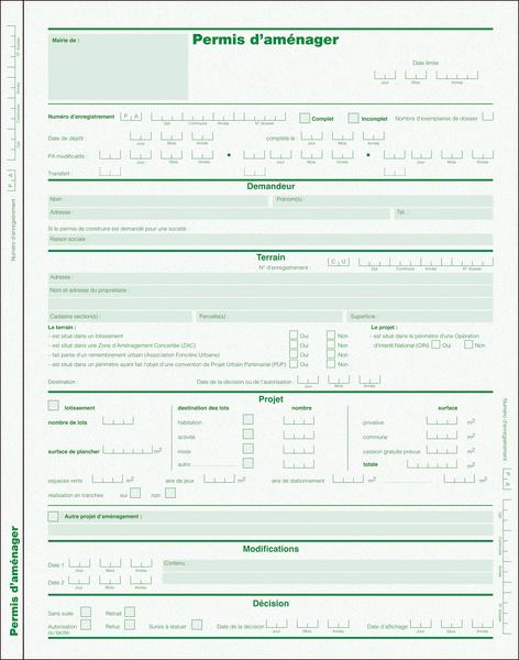 Les dossiers cartonn s complets pour vos instructions for Papier pour permis de construire