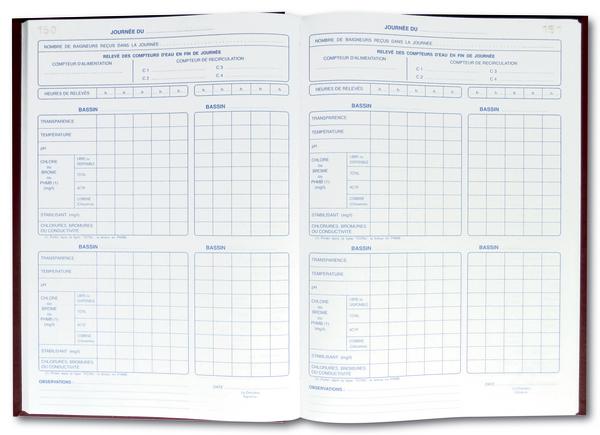 registre sanitaire de piscine documents accessoires. Black Bedroom Furniture Sets. Home Design Ideas