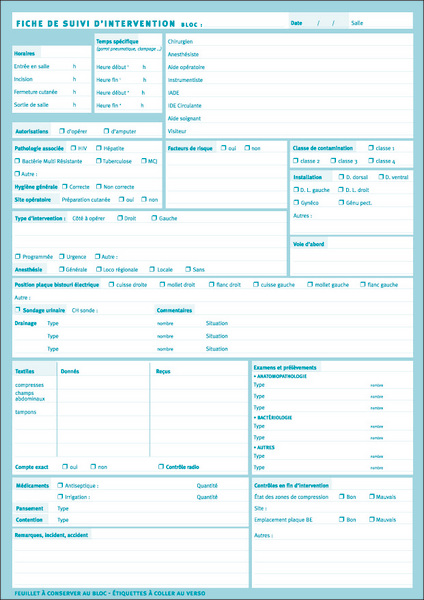 Dossier Patient De Liaison Service Bloc Sspi Service Avec