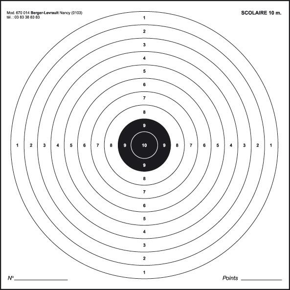 cible de tir a imprimer gratuit