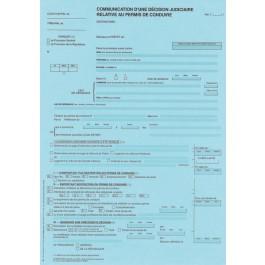 RÉF 7 - Communication d'une décision judiciaire relative au permis de conduire susceptible d'entraîner restriction du droit de conduire