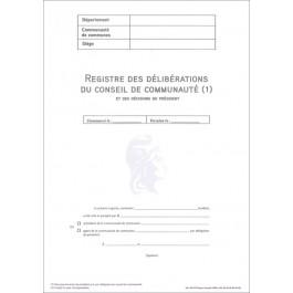 Pack d'ouverture des registres Délibérations - Décisions pour les communauté de communes