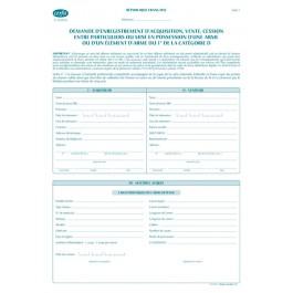 Demande d'enregistrement d'acquisition entre particuliers d'une arme ou d'un élément du 1°de la catégorie D (vente, cession ou mise en possession)