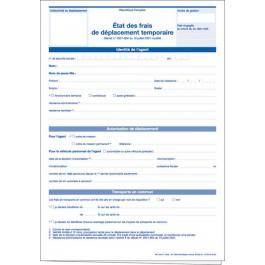 État des frais de déplacement temporaire (Personnels territoriaux)