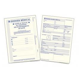 Dossier médical en santé au travail : Dossier médical + Intercalaire pour 6 examens (Personnel des établissements de santé)