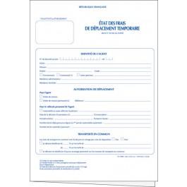 État des frais de déplacement temporaire (Fonctionnaires & agents hospitaliers)