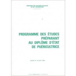 Programme des études - Puéricultrice