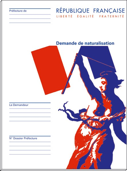 pochette dossier quot demande de naturalisation quot seule acquisition de la nationalit 233 fran 231 aise
