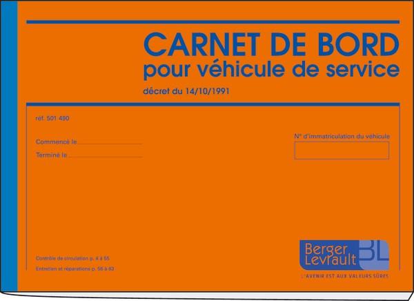 carnet de bord pour v hicule de service carnets de bord pour v hicule de service imprim s. Black Bedroom Furniture Sets. Home Design Ideas