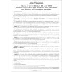 Affiche reproduisant le décret portant convocation des électeurs