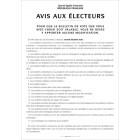 """Affiche """"Avis aux électeurs"""" pour la détermination des bulletins blancs ou nuls"""