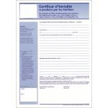 Certificat d'hérédité Feuillet simple