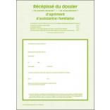 Récépissé du dossier de première demande ou de renouvellement d'agrément d'assistant(e) familial(e)