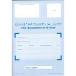 Carnet de correspondance entre l'établissement et la famille (de l'élève)