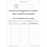 Liste électorale permettant l'émargement des votants CTE
