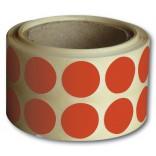 Réf. 670073 : rouge - Diam. 15 mm (ronds destinés petit calibre, 22LR, FAMAS)