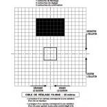 Cible de réglage pour FAMAS - 25 m - sur papier