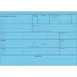 Réf. 7519180 : Carte en bristol bleu