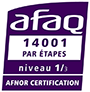 certification AFAQ ISO 14001 - Niveau 1/3