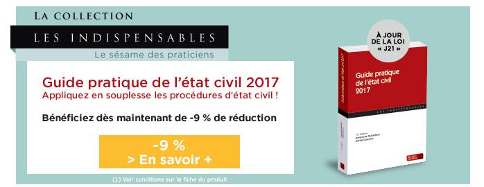 Guide pratique etat civil 2017